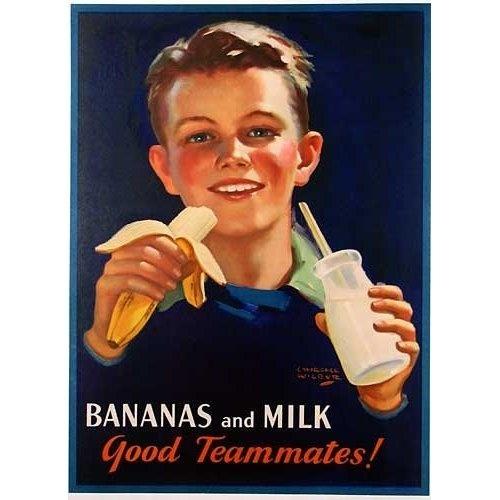 1920s bananas milk-CARMELLE blog post March 2014