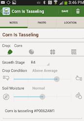 Encirca app screenshot corn harvest