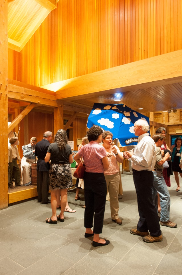 At the end of the night, guests enjoyed ice cream provided by Ben & Jerry's.