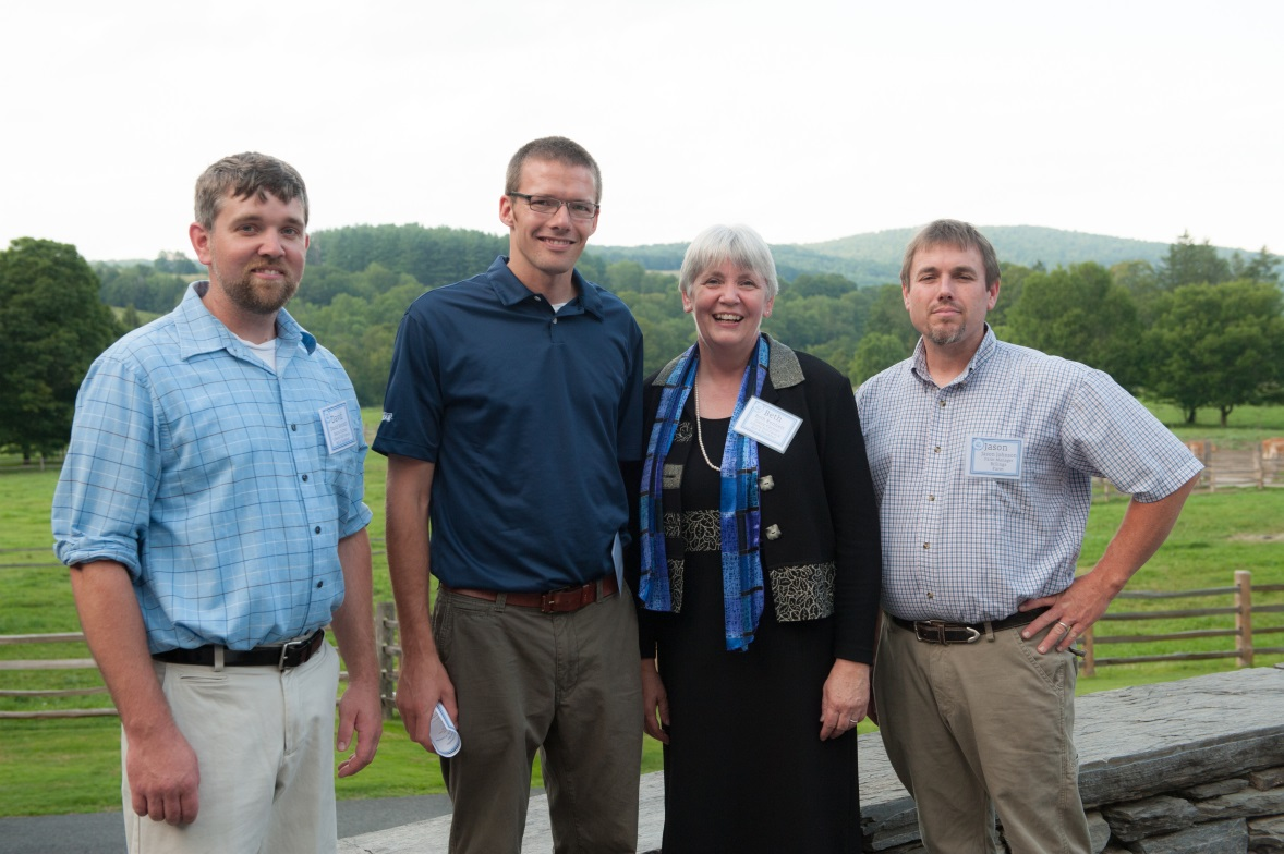 Dairy Farmers Beth Kennett and her son David Kennett enjoyed the mountain views with Billings Farm Manager Jason Johnson and Cabot Northeast Marketing & Communications Integrator Nick Managan. (From left to right: David Kennett, Nick Managan, Beth Kennett, and Jason Johnson.)