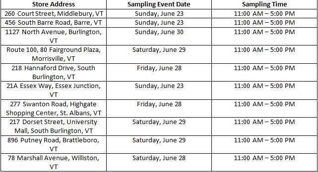 Hannaford Dairy Demo Schedule