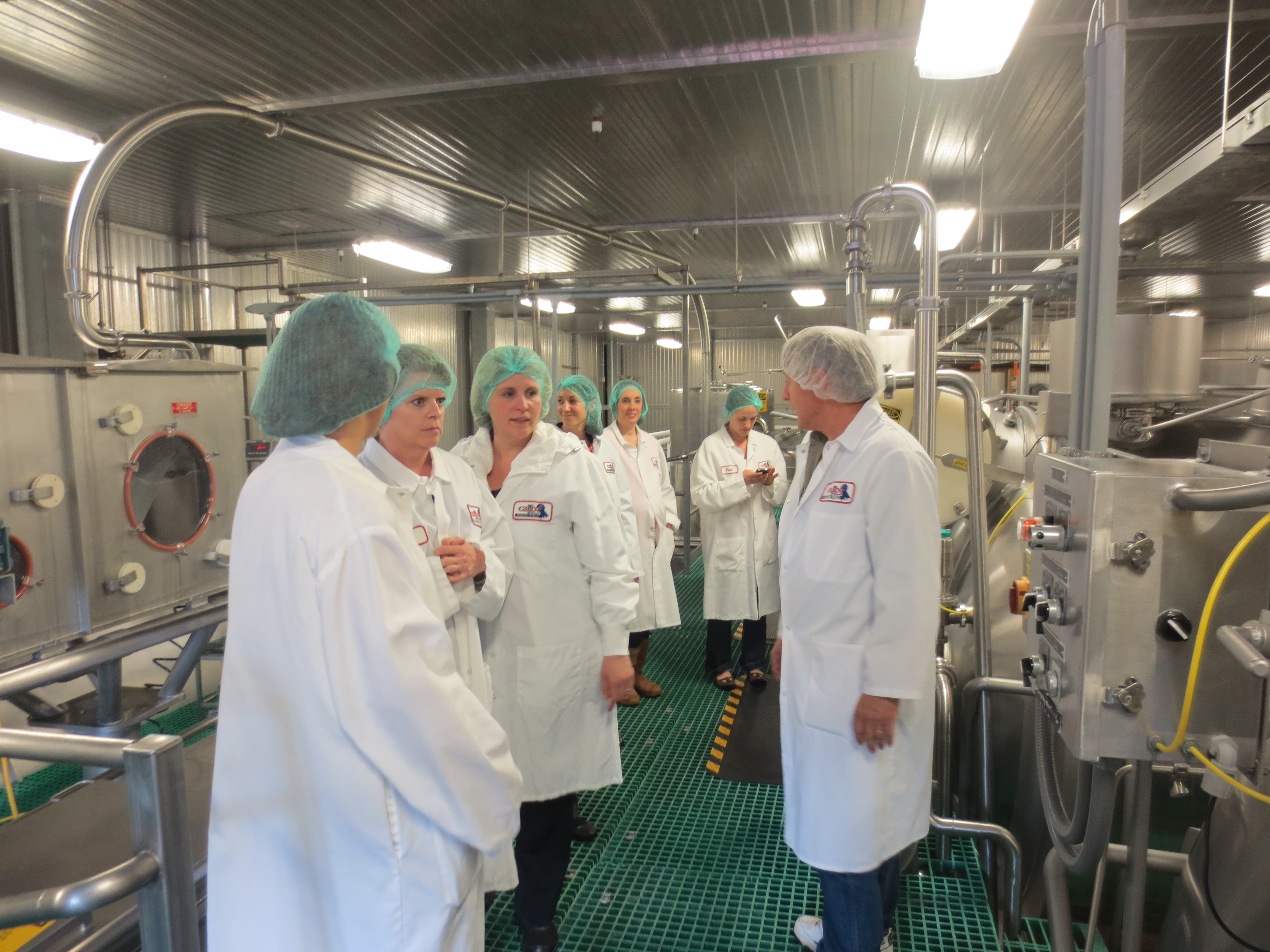 Getting a behind-the-scenes look at the production of cottage cheese and sour cream
