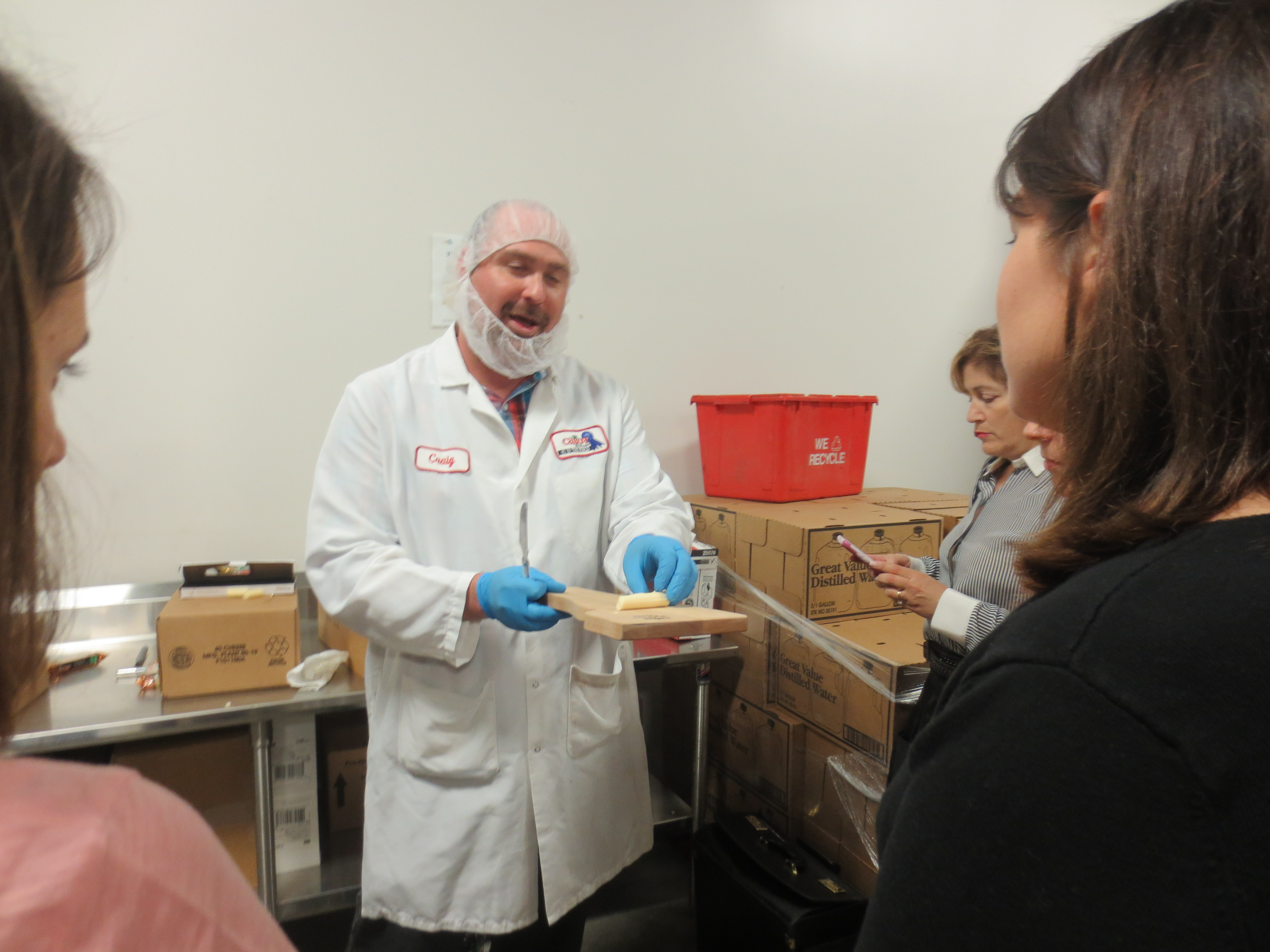 Meeting Cabot's cheese grader Craig Giles. Cheese grading is a pretty great job, don't you agree?