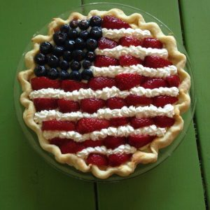 Patriotic Pie – Strawberry Banana Cream
