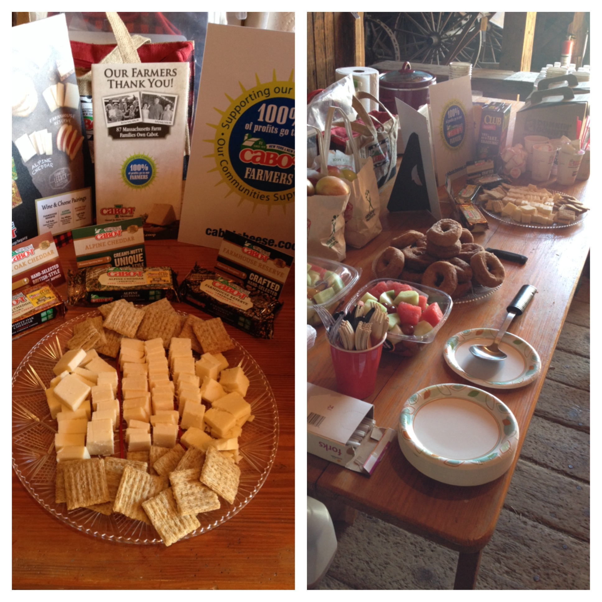 Snack table photo collage