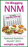 I'm Blogging National Nutrition Month