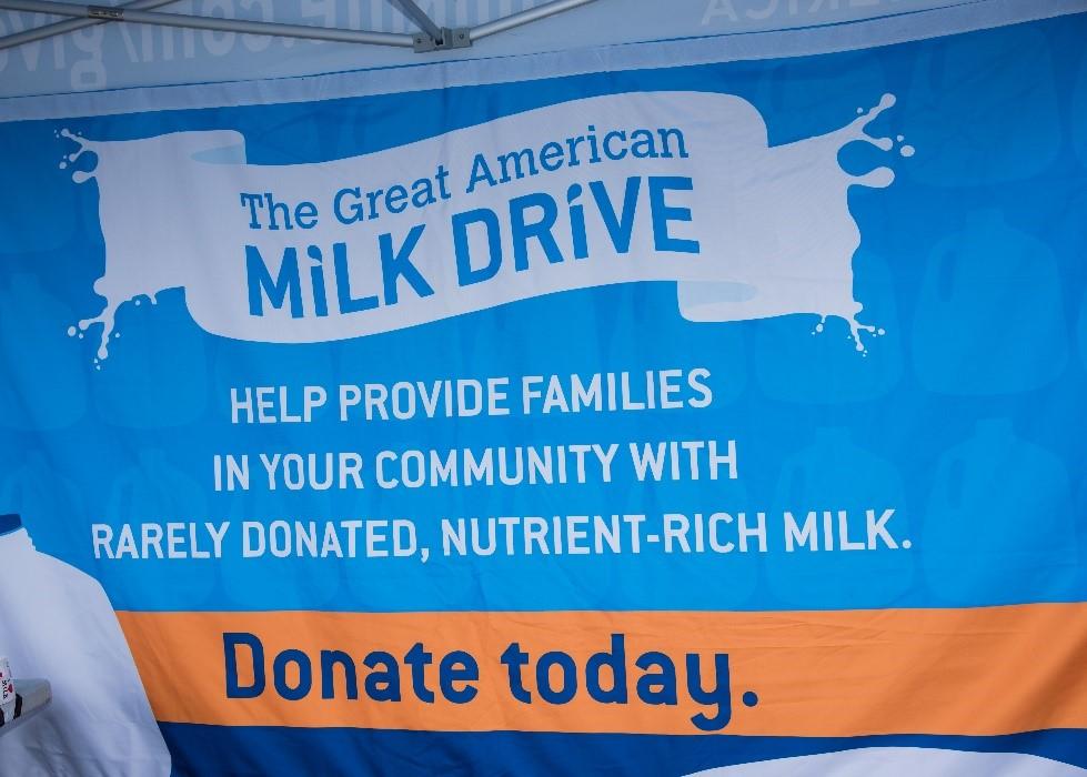 Great American Milk Drive Banner
