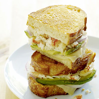 Crab and Avocado Grilled Cheese Sandwich Photo courtesy of Thomas J. Story, Sunset