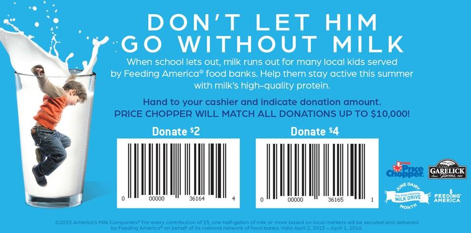 Price Chopper Great American Milk Drive