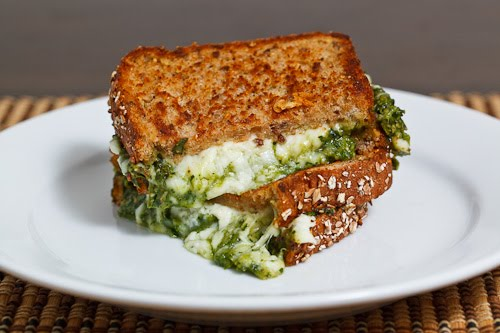 spinach grilled cheese