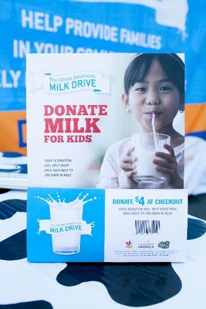 Stop & Shop milk drive signage